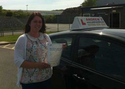 Carrie Viney of Rhos On Sea passed first Time today 3rd June 2013