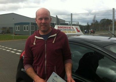 Matt Jones of Llandudno Junction passed first time today 26th April 2013