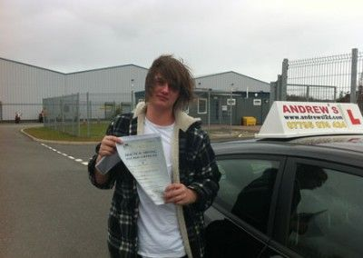 Adam Johnson of Llanrhos Deganwy Passed first time at bangor today 18th April 2013