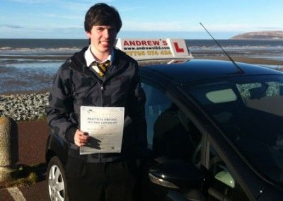 Sam Buckley of Penmaenmawr passed first time today 12th March 2013 at Bangor driving test centre