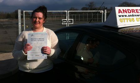 Jess Smith of Penmaenmawr well done on a great first time pass today at Bangor driving test
