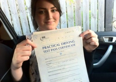Steph Davies of Conwy passed today at Bangor Driving Test Centre 23rd November 2012