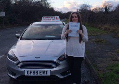 Abbie McCarthy from Llandudno Passed at Bangor on 12th January 2017