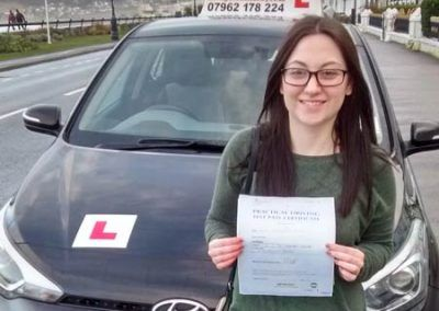 Alice Phillips from Llandudno passed first time  13th January 2017