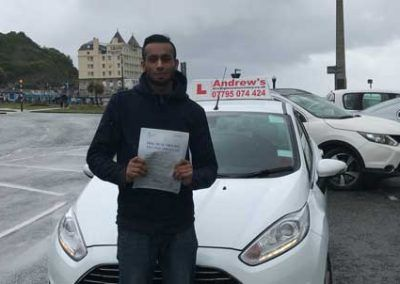 Aziz Llandudno passed first time at Bangor  5th June 2017