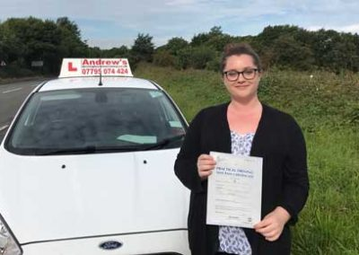 Catherine passed first time 23rd August 2017.