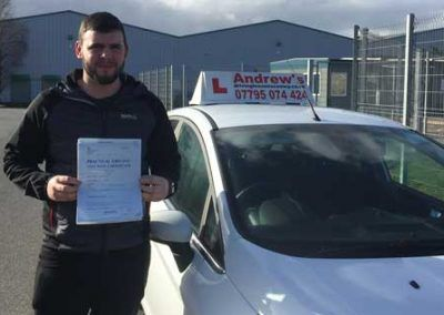 Dave Hughes from Llandudno passed first time March 20th 2017.