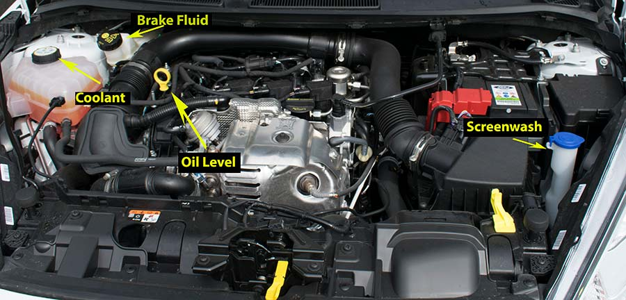 Ford Fiesta Engine Picture For Driving Test Show Tell