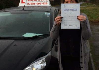 Julie from Tal y Bont Conwy passed at Bangor on March 4th 2016