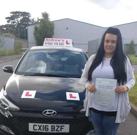 Leanne's driving test Penrhyn Bay