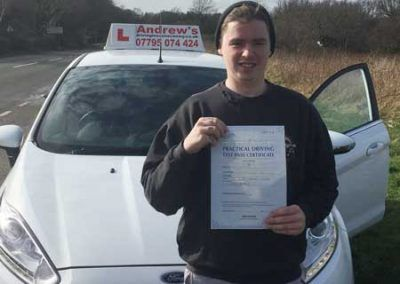 Liam Owen from Llandudno Junction passed on first attempt today 1st March 2017