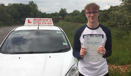 Max Little from Conwy passed first time 22nd May 2017
