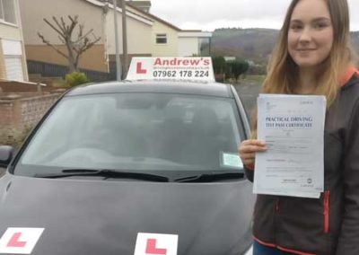 Rose Harper passed first time 15th November 2017