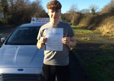 Ryan Pope passed first time 20th January 2017
