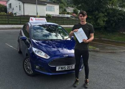 Wesley Roberts passed test first time in bangor 3rd August 2017.