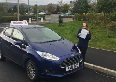 Alisha from Llandudno Junction passed first time 4th October 2017.