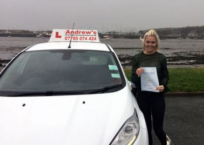 Angharad from Betws y coed passed first time at Bangor 9th December 2016