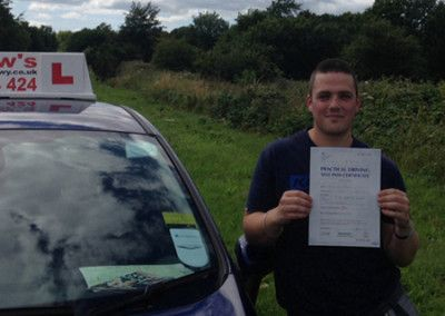 ben from Llandudno Junction passed on July 30th 2015