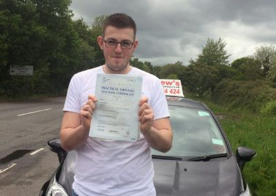 Daniel Rees Jones passed in Bangor on 18th May 2016 with no minors