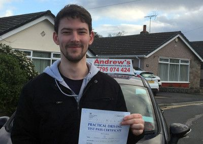 Darren Pearce from Bodelwyddan North Wales passed at Rhyl on 2nd February 2016