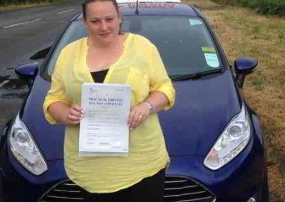 Vicky Harvey from Deganwy passed first time at Bangor on 2nd July 2015