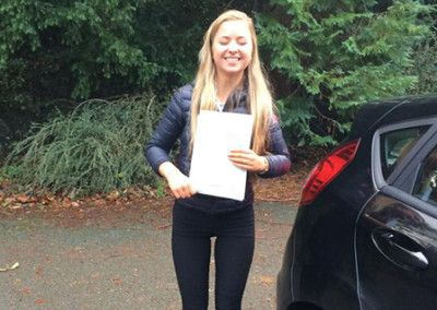 Megan Roberts Tal Y Cafn Conwy passed first time in Bangor