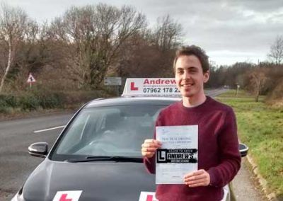 Glen from Old Colwyn passed first time at Bangor 15th December 2016