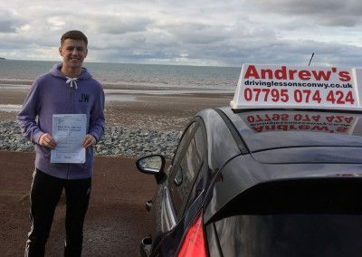 Grady Walding from Dwgyfylchi North Wales passed first time at Bangor 24th February 2016