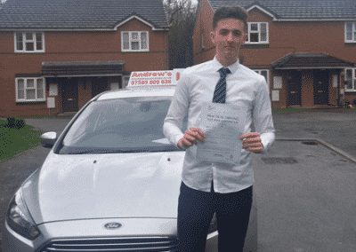 Jack Nichols from Old Colwyn passed first time in Rhyl 30th March 2017