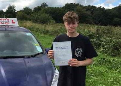 Jake Jones Penmaenmawr Passed driving test at Bangor North Wales on 24th August 2015