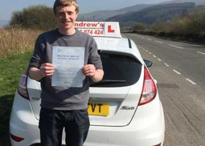 James Flynn from Mochdre passed first time at Bangor 27th March 2017