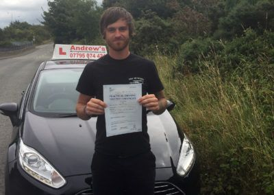 James Jones from Dolgarrog North Wales passed first time at Bangor 10th August 2016