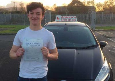 kieron Russell from Dolgarrog passed first time on 23rd November 2016
