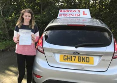 Kylia passed first time in Rhyl 5th October 2017