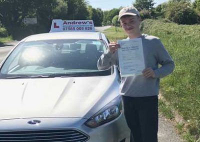Liam Geraghty from Deganwy passed at Bangor 23rd May 2017