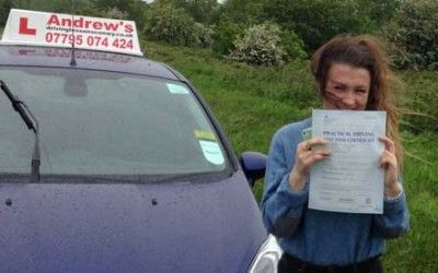 Lois passed first time on the 2nd June 2015