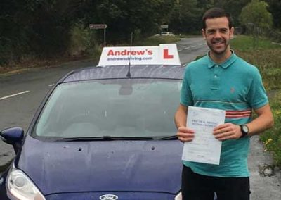 Michael passed first time in North Wales 4th October 2017.