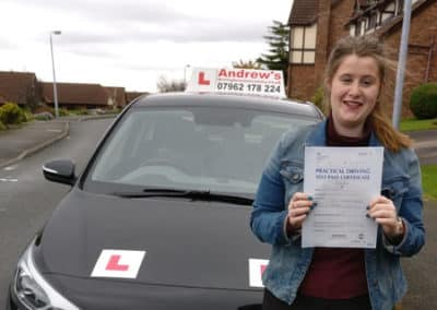 Molly Doyle Colwyn Heights passed with 4 minors 2nd November 2017