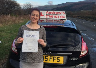 Morgan Mclinden passed in Bangor on 19th January 2016
