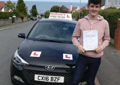 Owen Thomas Huffen passed first time  9th October 2017.