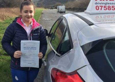 Siobhan Roberts from Rhos on Sea passed first time 7th March 2017