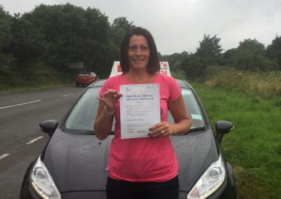 Tracy from Deganwy passed first time in Bangor North Wales 10th August 2016