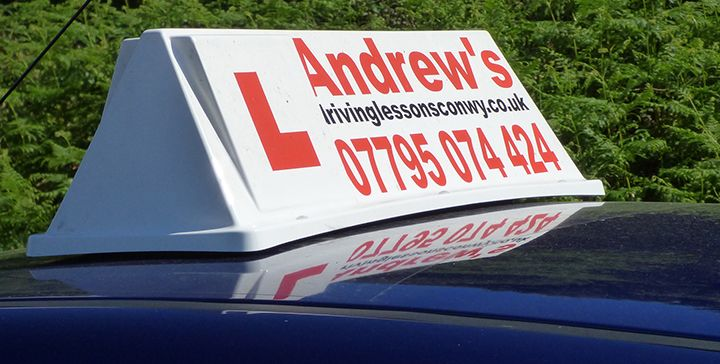 North Wales driving school car