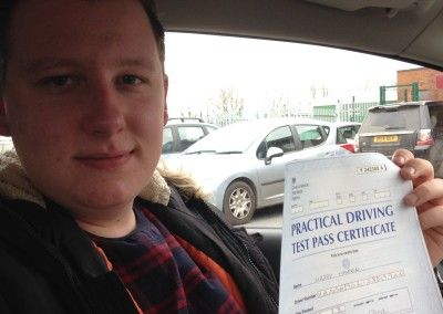Harry Hansen from  abergele passed first time at Rhyl 16th March 2016