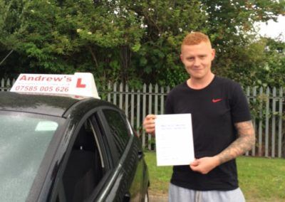 Mike Tasker from Colwyn Bay passed first time at Rhyl on 1st July 2016