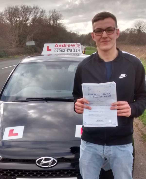 Brandon at Bangor Driving test centre