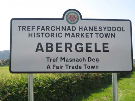 driving lessons abergele town sign
