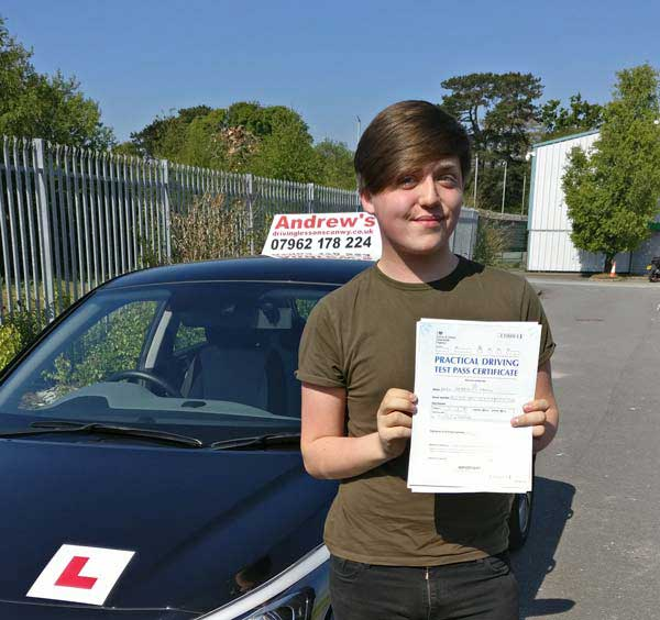 Kaya with test pass in Bangor