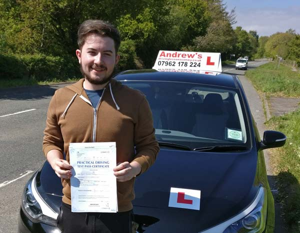 Ryan from Penmaenmawr passed first time