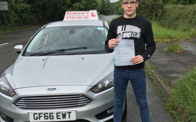 Glan Conwy driving lessons Callum
